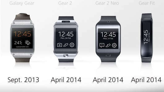 galaxy gear vs gear 2 vs gear 2 neo vs gear fit